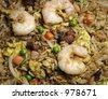 Fried Rice Background  & Close-up - stock photo