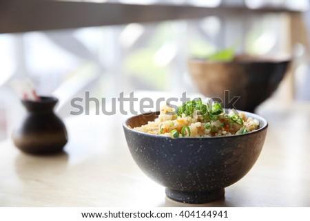fried rice japanese style - stock photo