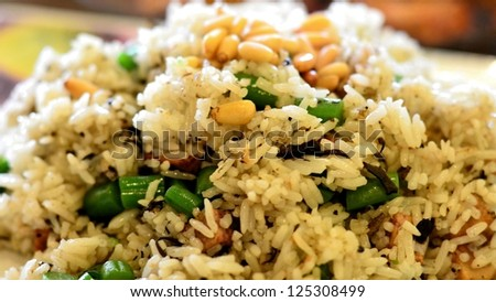 Fried rice on the dish - stock photo
