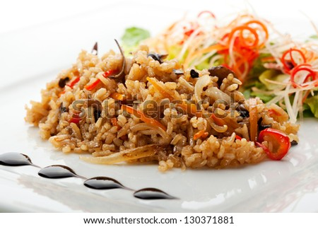 Fried Rice with and Vegetables - stock photo