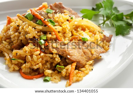 Fried Rice with Beef and Vegetables