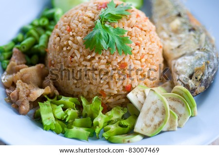 Fried Rice with chilli oil,Thai food