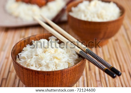 Fried rice with egg - stock photo