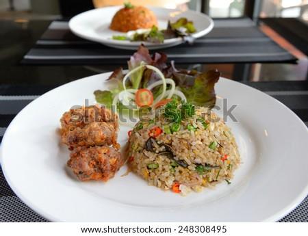 Fried Rice with Pork - stock photo