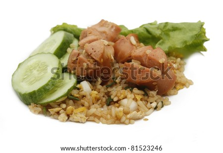 fried rice with sausage