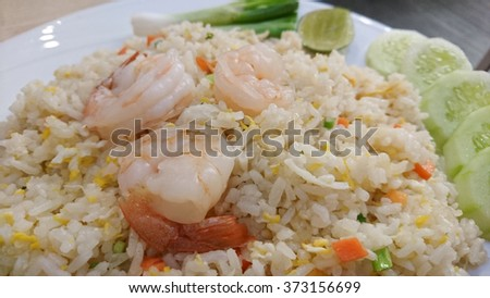 fried rice with shrimp thai food style