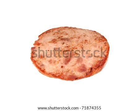 Fried sausage - stock photo