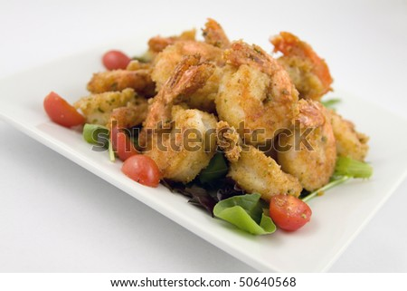 Fried Shrimp appetizer - stock photo