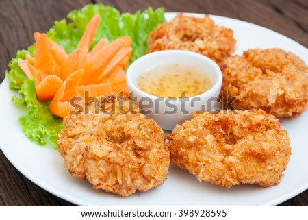 Fried shrimp cake, Thai food