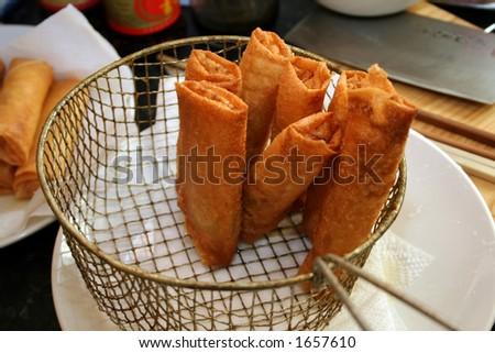 Fried spring rolls - stock photo