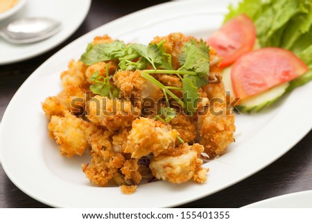 Fried squid ring. - stock photo
