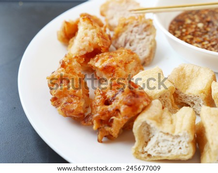 Fried Tofu Thai Snack