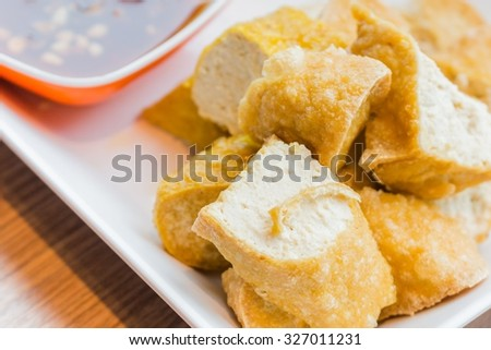 Fried Tofu with sweet souce