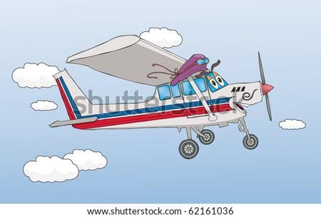 Friendly Airplane - Raster Version - stock photo