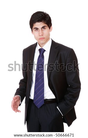 friendly business man isolated over white background
