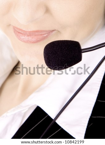 Friendly call service operator. - stock photo
