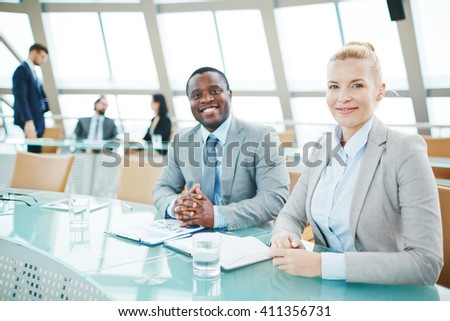 Friendly managers - stock photo