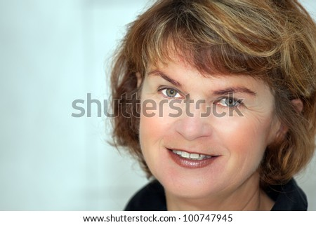 Friendly natural Full Woman Portrait