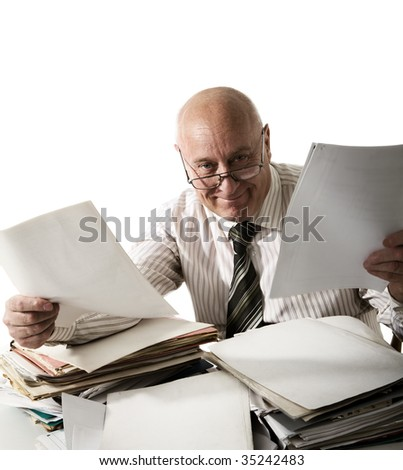 Friendly official - stock photo