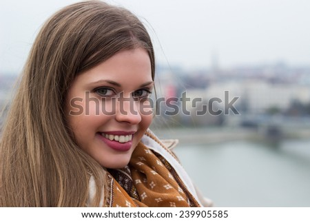 Friendly smile  - stock photo