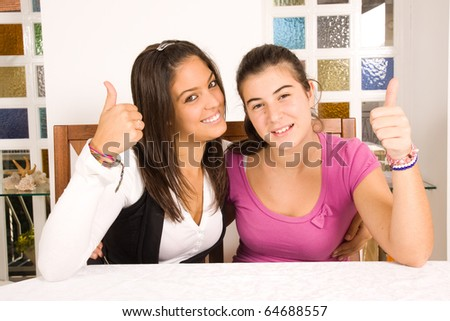 friends and sisters - stock photo