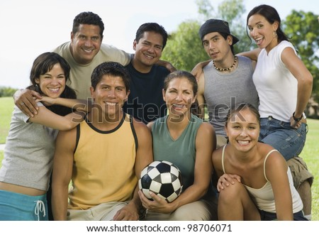 Friends at a Park - stock photo