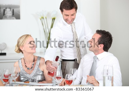friends at a party - stock photo