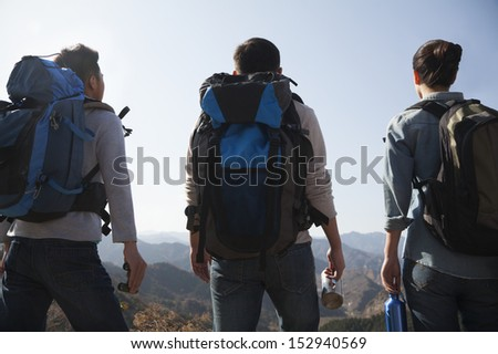 Friends getting ready for journey - stock photo