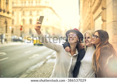 Friends hanging out - stock photo