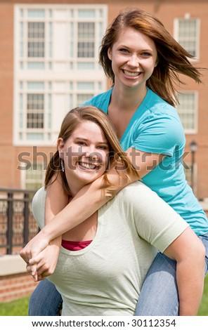 Friends Having Fun Laughing - stock photo