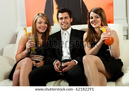 Friends having good time together - stock photo