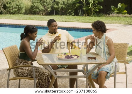 Friends Having Lunch - stock photo