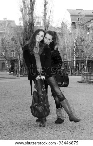 Friends in the city - stock photo