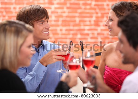 Friends making a toast - stock photo