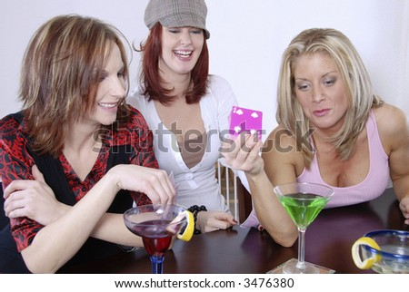 Friends playing poker.