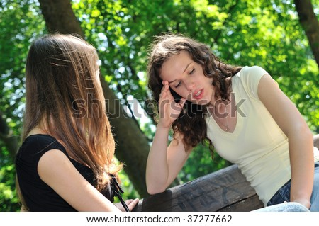 Friends series - one teenage girl comforts another which has serious problem