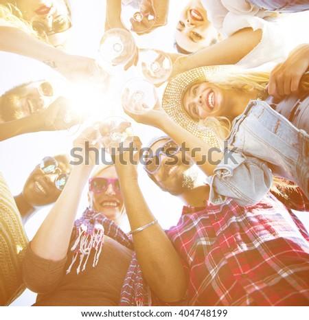 Friends Toast Celebration Together Success Concept - stock photo