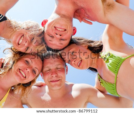 friends together - stock photo