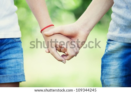 friendship and love of man and woman - stock photo
