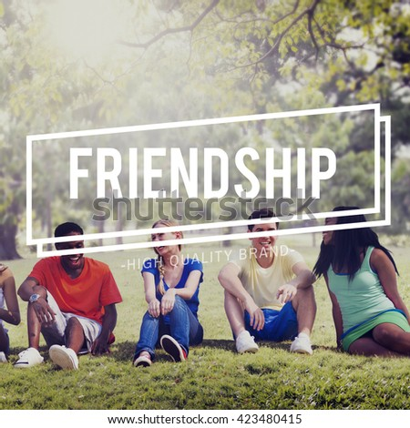 Friendship Connection Together Unity Community Concept - stock photo