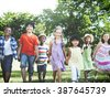 Friendship Happiness Togetherness Children Casual Concept - stock photo