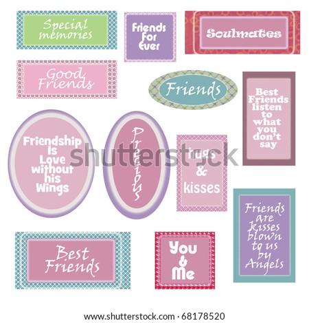 Friendship Quotes Stock Illustration 68178520 - Shutterstock