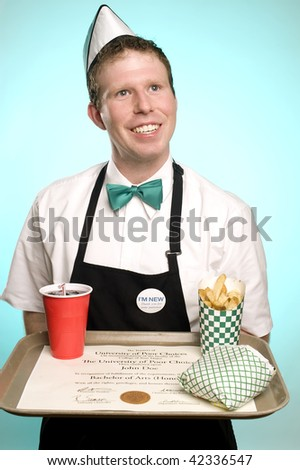 Fries with that Degree? - stock photo