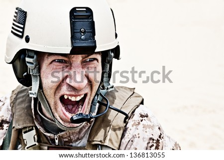 frightening - stock photo