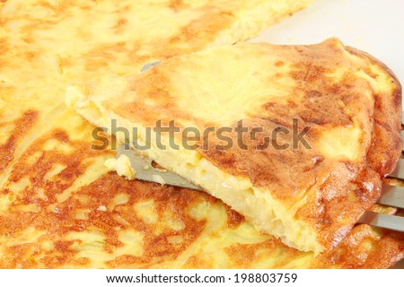 Frittata with onion, omelet