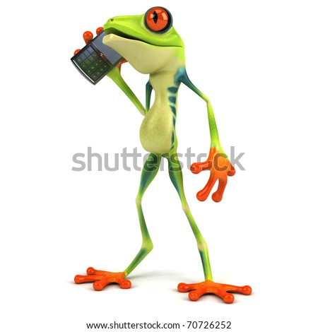 Frog and mobile phone