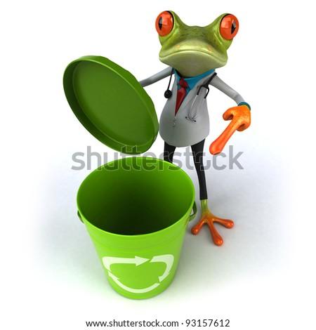 Frog doctor - stock photo