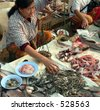 Frog & Fish Market   Myanmar (Burma) - stock photo