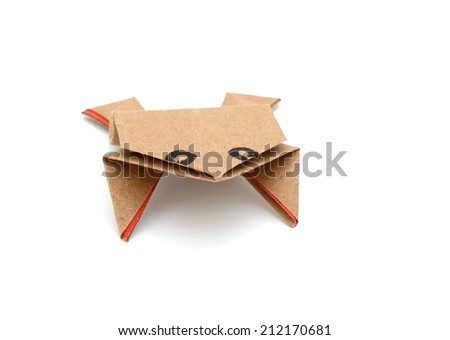 Frog paper  - stock photo