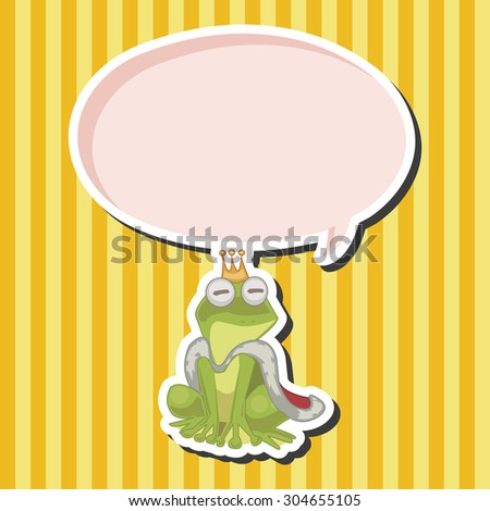Frog Prince, cartoon speech icon